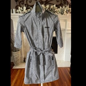 Bench Belted Short Black and White Check Dress